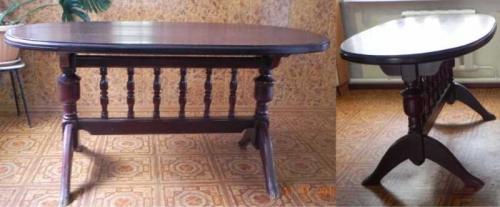 Обеденный кухонный стол на 2 ножках