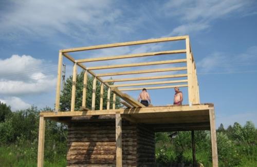 Строительство каркаса для мансардной крыши