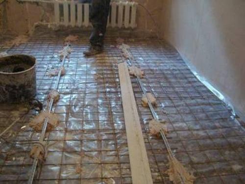 Армирующая сетка для бетонной стяжки
