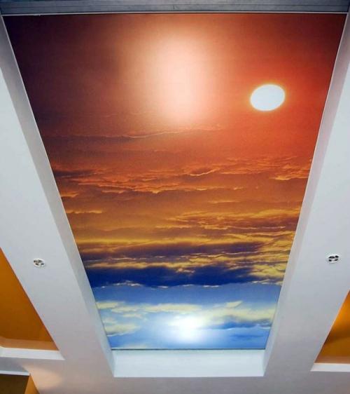 Тканевый натяжной потолок 3