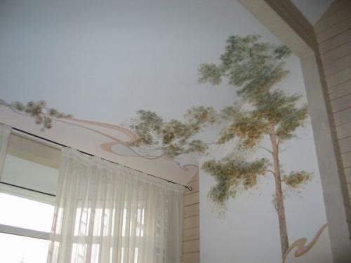 Тканевый натяжной потолок 4