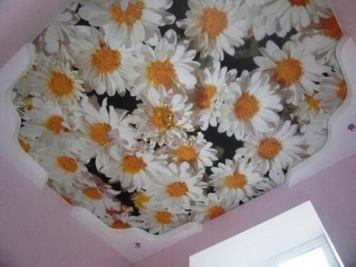 Тканевый натяжной потолок 9