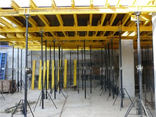 Установка опалубки для монолитной плиты перекрытия