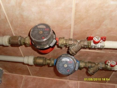 Установка счетчиков воды