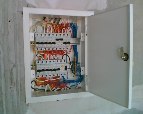 Установка электрощита