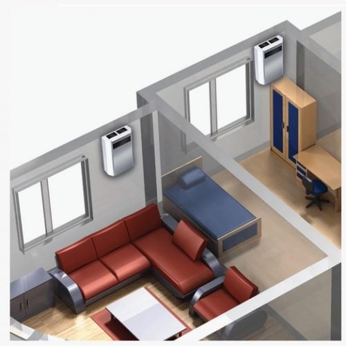 Установка приточно-вытяжной вентиляции для одного помещения