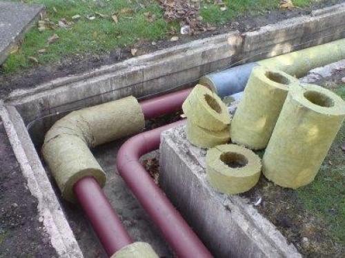 Утепление трбу наружной канализации коттеджа