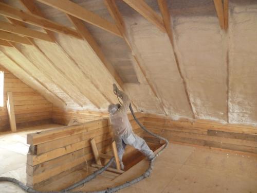 Утепление мансардной крыши пенополиуретаном