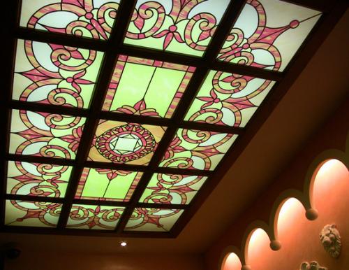 Крепление стеклянного потолка на деревянную обрешетку