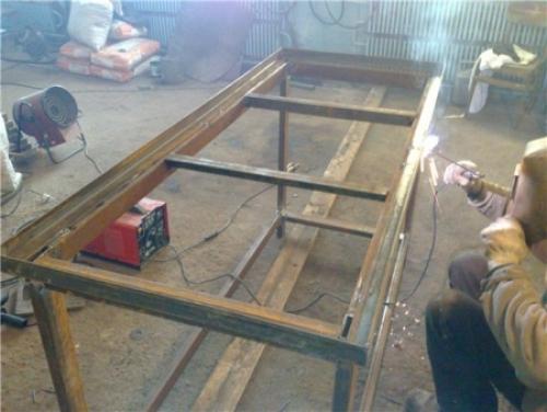 Свариваем стеллаж для гаража
