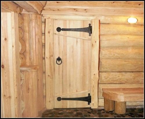 Двери в баню своими руками из дерева фото