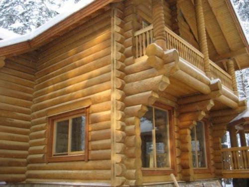 Внешняя отделка бревенчатого дома