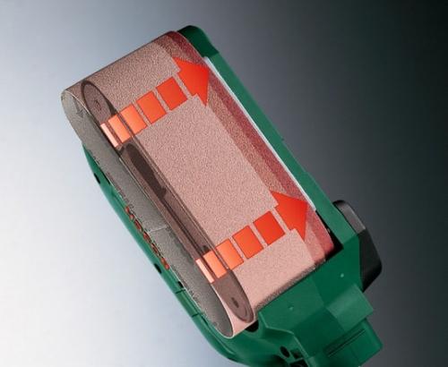 Замена абразивной ленты в ленточной шлифовальной машинке