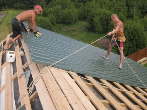 Крыша под рубероид своими руками фото 729