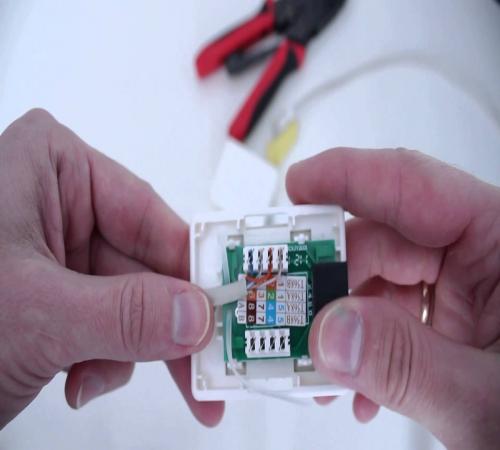 Установка компьютерной розетки своими руками 45