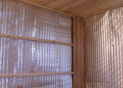 Фольгированный утеплитель при выполнении теплоизоляции
