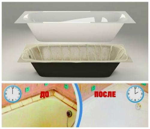 Как обновить ванну чугунную