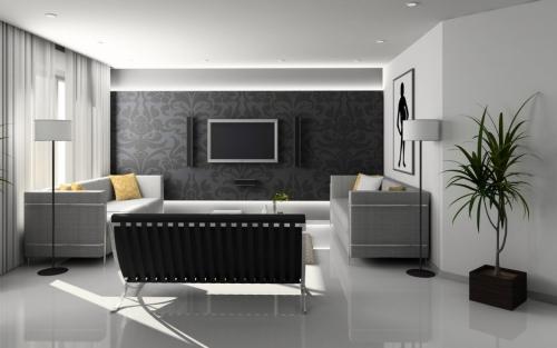Интерьеры комнаты в белых тонах фото