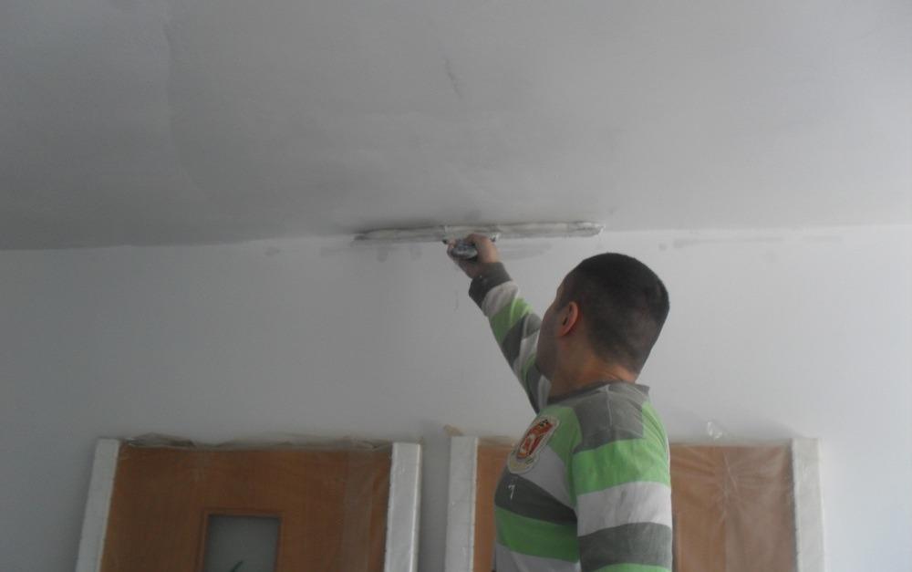 Технология работы грунтовки, штукатурки и шпаклевки потолка и стен эмаль фл-2128 для пола серая