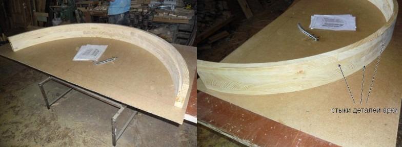 Как сделать арку из дерева в оконном проеме своими руками