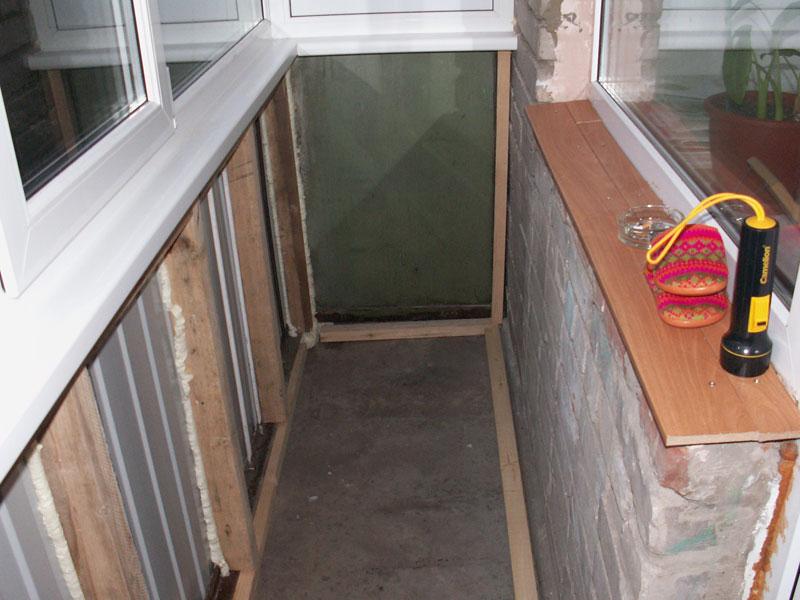Утепления ограждения балкона..