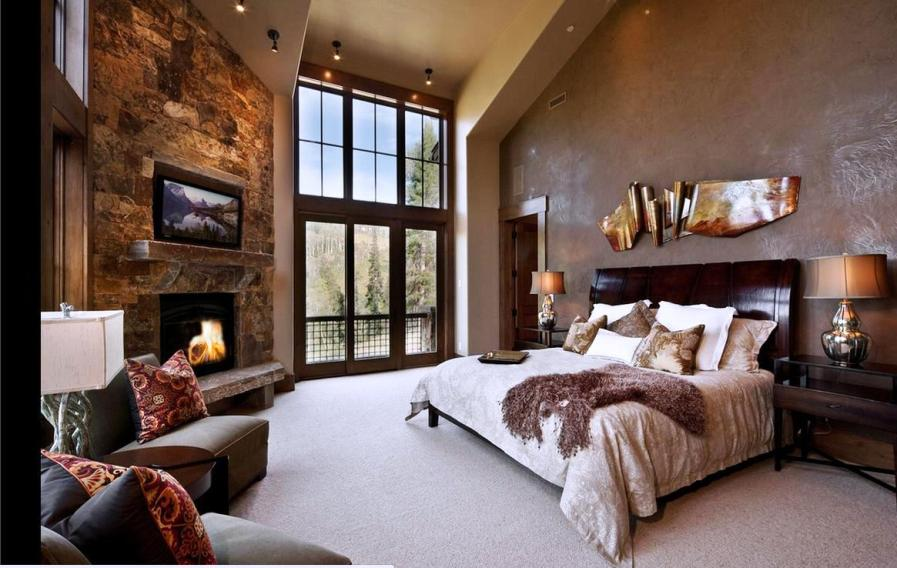 Дизайн спальни в доме с мансардой