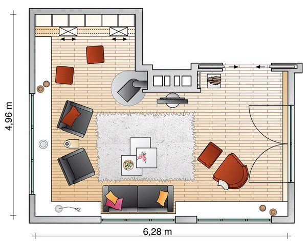- House plans large living rooms ...