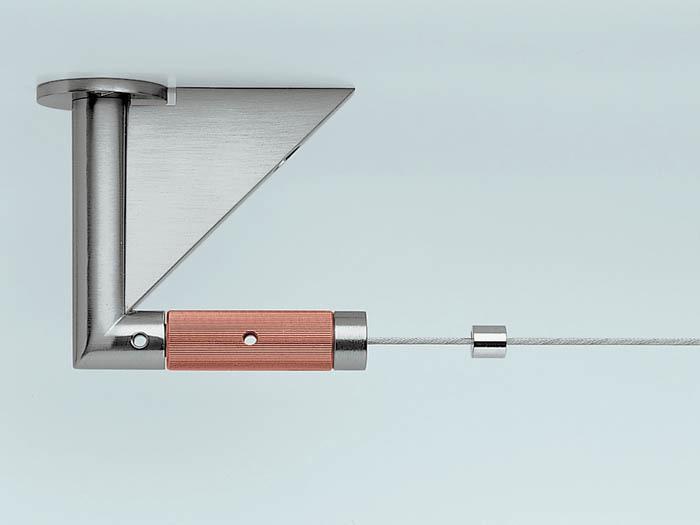 схема крепления струнного карниза к потолку