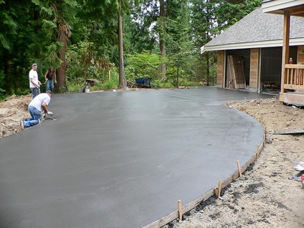 Укладка плитняка на бетонное основание своими руками видео